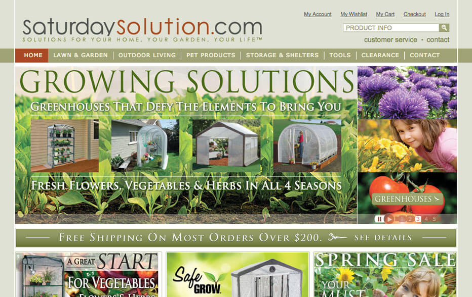 Saturday Solution Website on Laptop